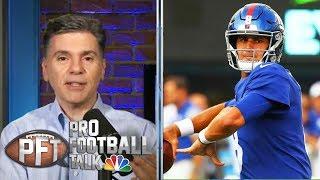 Giants explain decision to make QB change to Daniel Jones | Pro Football Talk | NBC Sports