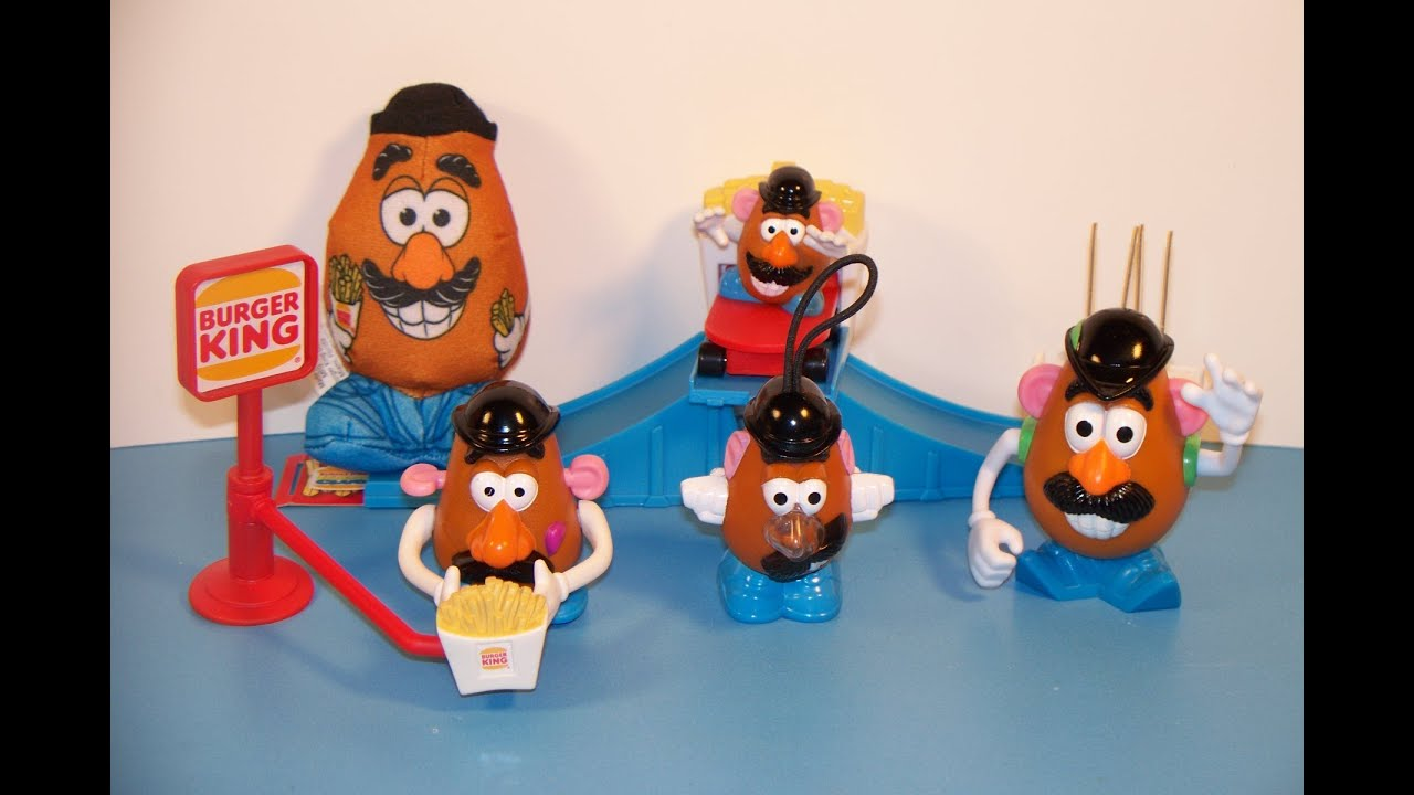 1999 Mr Potato Head Set Of 5 Burger King Kid S Meal Toy S