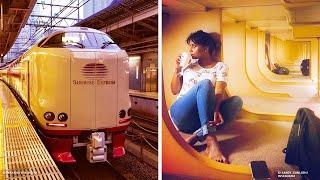 القطارات اليابانية تكنولوجيا ورفاهية مذهلة     -