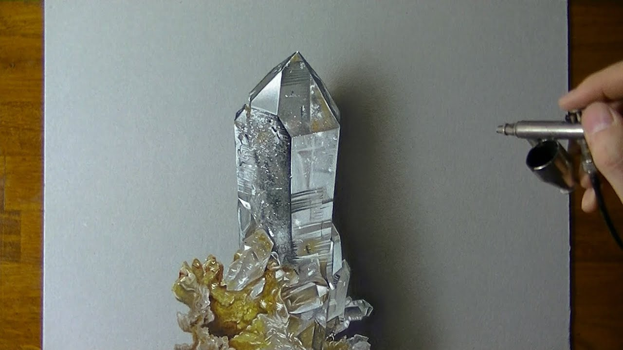 Comment dessiner un cristal de roche ?