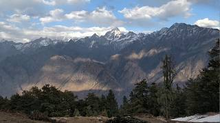 Beautiful Snowcapped Mountains - Auli, Uttarakhand