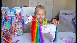 Кукла Винкс с РАДУЖНЫМ Единорогом для Алисы !!! Первый Новогодний подарок !!!