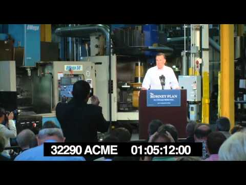 Mitt Romney introduction of Acme Industries