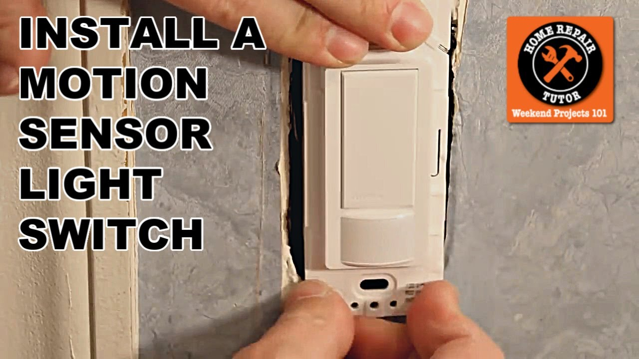 Install Light Switch Old Wiring Automotive Diagram Replacing How To The Maestro Motion Sensor New Single