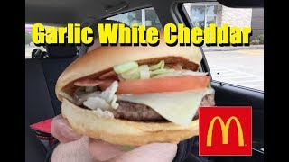 McDonald's® Garlic White Cheddar Burger Review!