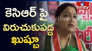 Actress Kushboo sensational comments on KCR..