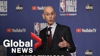 NBA Finals: Commissioner Adam Silver speaks ahead of Game 1