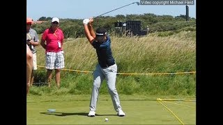 Xander Schauffele golf swing - Long Iron (face-on view), July 2017.