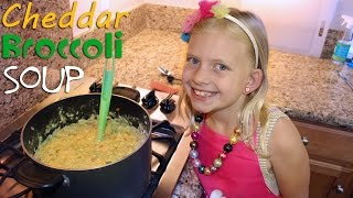 Kid Size Cooking: Broccoli Cheddar Soup - YouTube