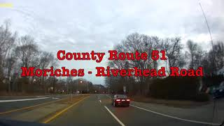 Early Morning Drive From Center Moriches to Riverhead Friday February 15, 2019.