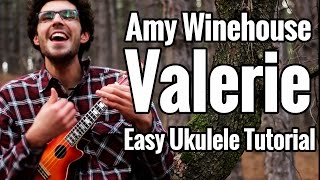 """""""Valerie"""" Ukulele Tutorial - Amy Winehouse - Easy Uke Play Along"""