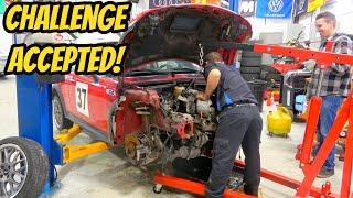 Removing a Mini Cooper S Engine in less than 1 Hour? Mechanic Says No Problem!