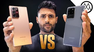 Samsung Galaxy Note 20 Ultra vs Galaxy S20 Ultra.