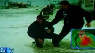 Geraldo Rivera Gets knocked on his ass by Hurricane Ike