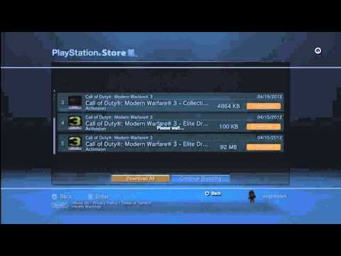 Call of Duty MW3 How to Download Maps for PS3 (redux)