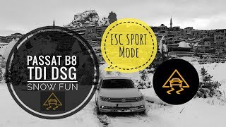 Snow Fun | Passat 1.6 TDI DSG B8 | ESC Sport | Without Handbrake