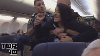 Top 10 People Freaking Out On Airplanes