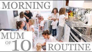 NEW MORNING ROUTINE with 10 CHILDREN (2/2)