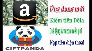 Ứng dụng kiếm tiền mới GifPanda Quà tặng PayPal Amazon miễn phí