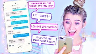 Texting Lyric Prank On My High School TEACHER! WANT YOU BACK By Cher Lloyd