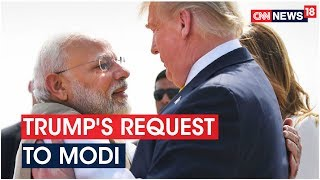 Donald Trump requests PM Modi to release Anti-Malarial dru..