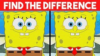 Bet you can't FIND THE DIFFERENCE!   100% FAIL   Spongebob Cartoon photo Puzzle
