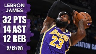 LeBron James posts monstrous triple-double in Lakers vs. Nuggets | 2019-20 NBA Highlights