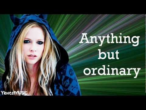 Avril Lavigne - Anything But Ordinary (Lyrics)