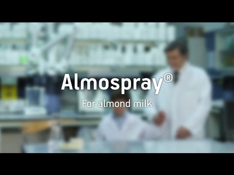 Almospray, the formula to produce the best almond milk.