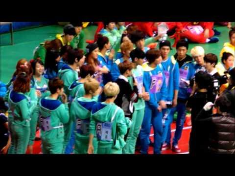 130128 아이돌 스타 육상&양궁 선수권 대회 EXO Cheering for TAO&TAO WUSHU
