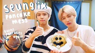 Stray Kids Seungmin and Felix's pancake disaster