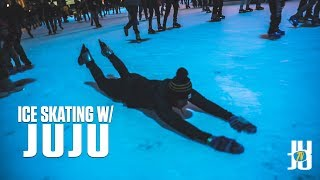 JuJu Smith-Schuster Is Afraid of Ice Skating! *Suspended* Day in the Life! VLOG