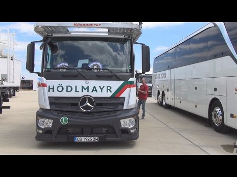 Mercedes-Benz Actros 1836 Car Carrier Truck (2016) Exterior and Interior in 3D