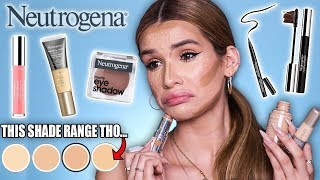 FULL FACE testing NEUTROGENA Makeup!   is it ANY Good?!