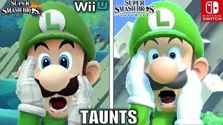 Smash Bros Taunts Comparison (Wii U VS Ultimate - Graphics, Voice, Taunt Changes & MORE!)