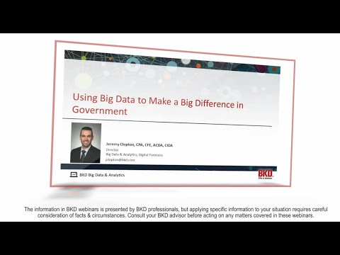 Using Big Data to Make a Big Impact in Government
