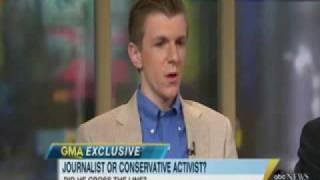 Stephanopoulos Conducts Contentious Interview with James O'Keefe (1 of 2)