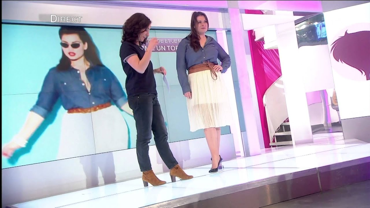 femmes ronde look chemise en jeans jupe pliss e youtube. Black Bedroom Furniture Sets. Home Design Ideas