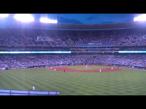 Kaufmann Stadium, Kansas City  (outfield view) 07-31-2010