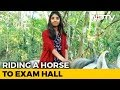 Kerala teen's special reason why she rode on horse to exam hall