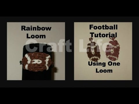 Craft Life Rainbow Loom Football Charm Tutorial One