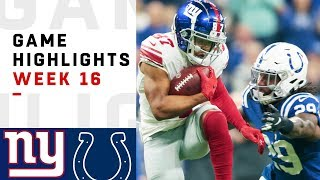 Giants vs. Colts Week 16 Highlights | NFL 2018