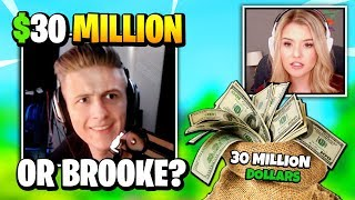 Symfuhny Has To Choose Between 30 MILLION DOLLARS And Brooke So He Reacts With THIS | Fortnite Daily