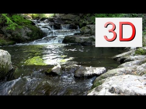 3D Video: Waterfall Relaxation #4