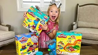 Making REAL Play Doh Ice Cream AND Dessert Pie!!!