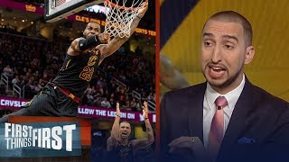 Nick Wright reacts to LeBron's 40-PT triple-double in Cavs' win over the Bucks | FIRST THINGS FIRST