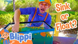 Science Videos for Kids with Blippi | Sink or Float