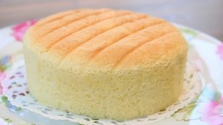 How To Make Super Soft Sponge Cake | Butter Sponge Cake Recipe | 像棉花般柔软的蛋糕---棉花蛋糕  | 燙麵法
