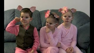 10 YEAR OLD BLOOPERS RE-DISCOVERED!! THREE LITTLE PIGS AND THE BIG BAD WOLF!!