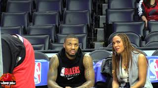 Damian Lillard Hanging Out With ESPN First Take 's Ros Gold Onwude